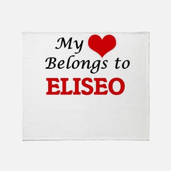 My heart belongs to Eliseo Throw Blanket