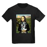Mona's Catahoula Leopard Kids Dark T-Shirt