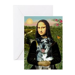 Mona's Catahoula Leopard Greeting Cards (Pk of 20)