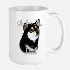 Shiba(blk) Dad2 Large Mug