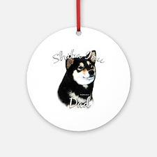 Shiba(blk) Dad2 Ornament (Round)