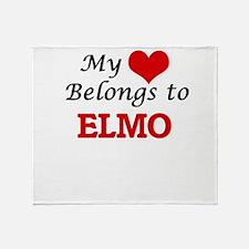 My heart belongs to Elmo Throw Blanket