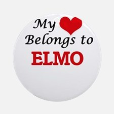 My heart belongs to Elmo Round Ornament