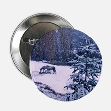 """Horses in Winter 2.25"""" Button"""