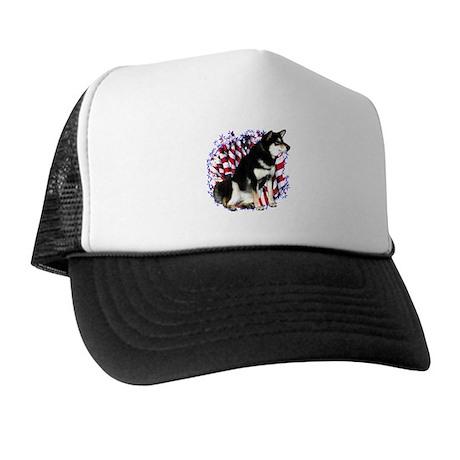 Shiba(blk) Patriot Trucker Hat