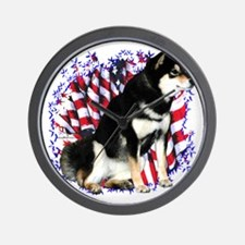 Shiba(blk) Patriot Wall Clock