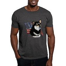 Shiba(blk) Flag T-Shirt
