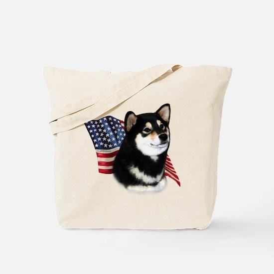 Shiba(blk) Flag Tote Bag
