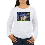 Starry/Puff Crested Women's Long Sleeve T-Shirt
