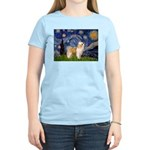 Starry/Puff Crested Women's Light T-Shirt