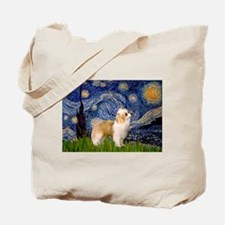 Starry/Puff Crested Tote Bag