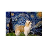 Starry/Puff Crested Rectangle Magnet (10 pack)