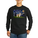 Starry/Puff Crested Long Sleeve Dark T-Shirt