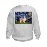 Starry/Puff Crested Kids Sweatshirt