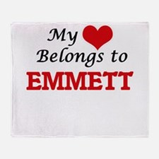 My heart belongs to Emmett Throw Blanket