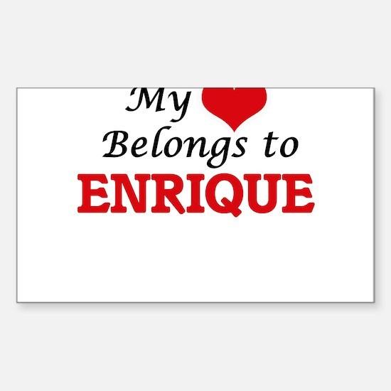 My heart belongs to Enrique Bumper Stickers