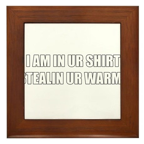 LOLCATS! I AM IN UR SHIRTZ Framed Tile