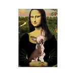 Mona / C Crested(HL) Rectangle Magnet