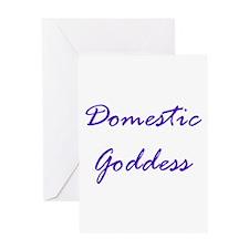 Cute Domestic goddess Greeting Card