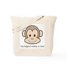 Happiest Monkey Tote Bag