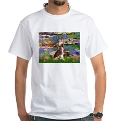 Lilies / C Crested(HL) White T-Shirt
