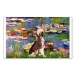 Lilies / C Crested(HL) Sticker (Rectangle)