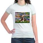 Lilies / C Crested(HL) Jr. Ringer T-Shirt