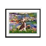 Lilies / C Crested(HL) Framed Panel Print