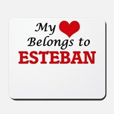 My heart belongs to Esteban Mousepad