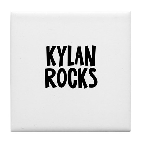 Kylan Rocks Tile Coaster