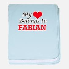 My heart belongs to Fabian baby blanket