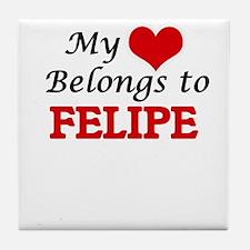 My heart belongs to Felipe Tile Coaster