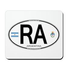 Argentina Euro Oval Mousepad