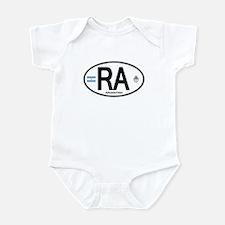 Argentina Euro Oval Infant Bodysuit