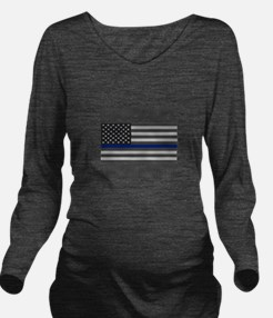 I support law enforcement Long Sleeve Maternity T-