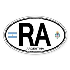 Argentina Euro Oval Oval Decal