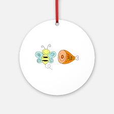 Bee Ham Birmingham Alabama Round Ornament