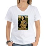 Mona /Chow Chow #1 Women's V-Neck T-Shirt
