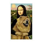 Mona /Chow Chow #1 Sticker (Rectangle)