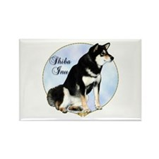 Shiba(blk) Portrait Rectangle Magnet (10 pack)
