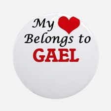 My heart belongs to Gael Round Ornament