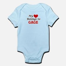 My heart belongs to Gage Body Suit