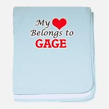 My heart belongs to Gage baby blanket
