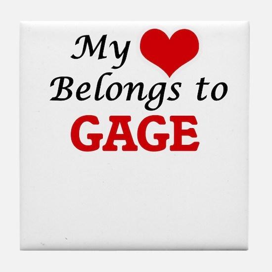 My heart belongs to Gage Tile Coaster
