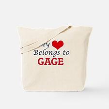 My heart belongs to Gage Tote Bag