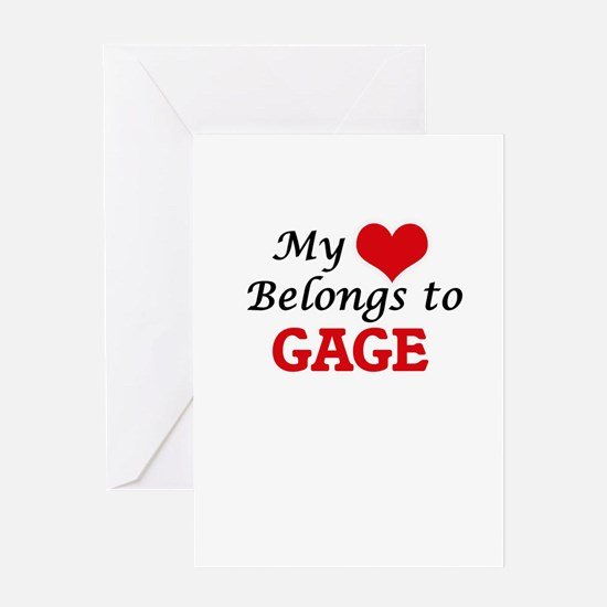 My heart belongs to Gage Greeting Cards