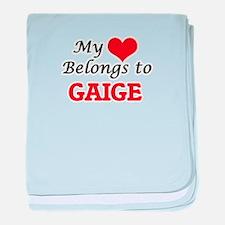 My heart belongs to Gaige baby blanket