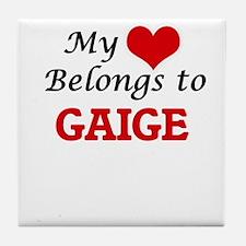 My heart belongs to Gaige Tile Coaster