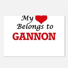 My heart belongs to Ganno Postcards (Package of 8)
