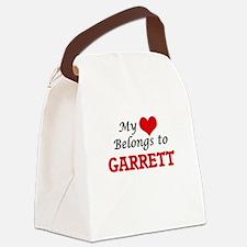 My heart belongs to Garrett Canvas Lunch Bag